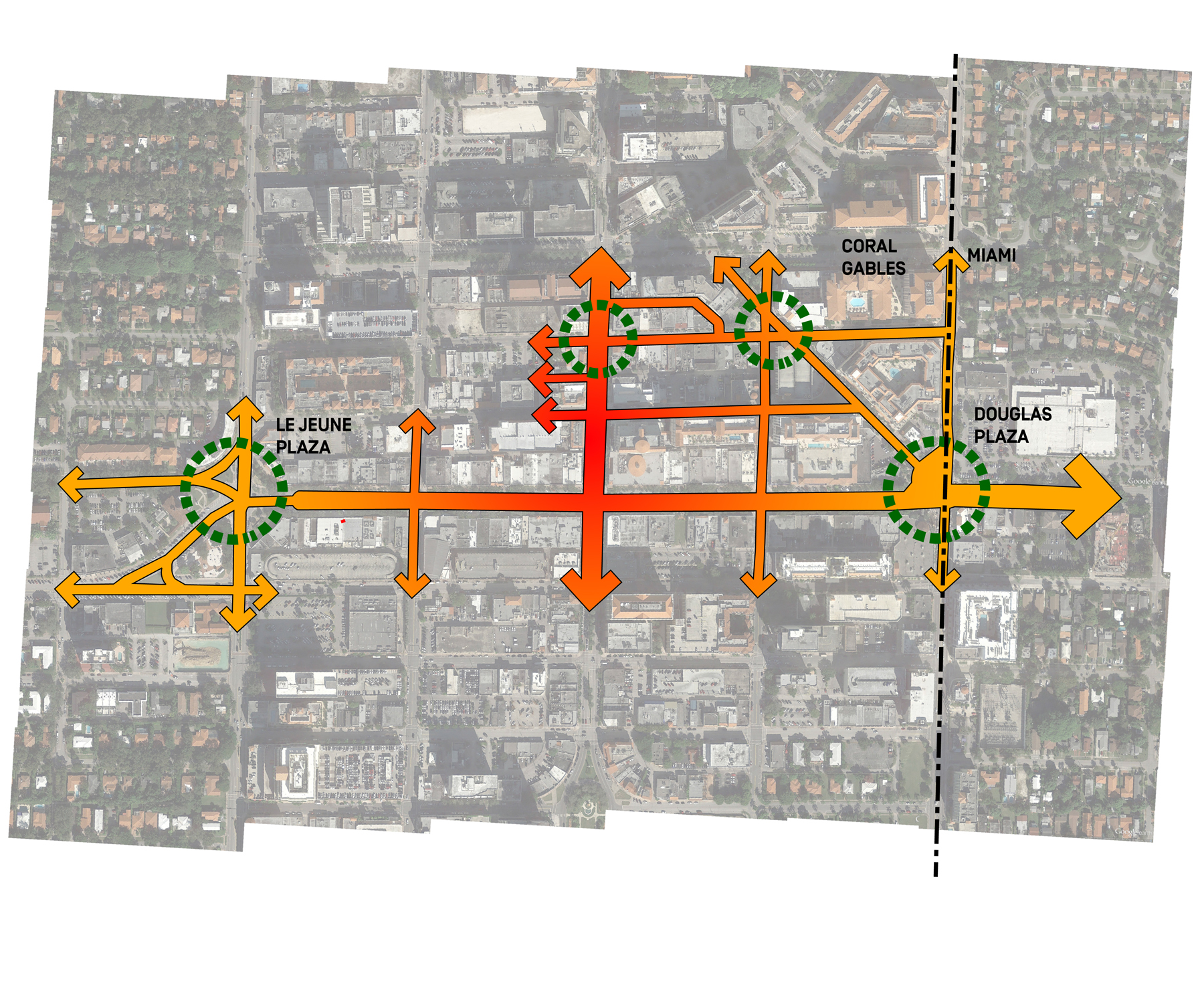Cooper Robertson Unveils Design Of Coral Gables Miracle Mile - Chicago map miracle mile