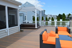 deck builder and kitchenware designer select new timbertech capped composites to create ultimate. Black Bedroom Furniture Sets. Home Design Ideas