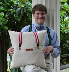 Christopher Steiner, great great great grandson of Melville Irby Branch and the Original Georgia Suspender Pillow