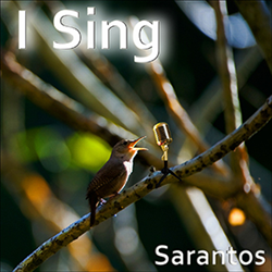 Sarantos song artwork I Sing solo music artist Voice of Chicago new pop rock free release Sing For Hope Charity