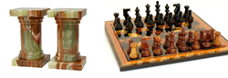 Marble Chess Sets & Bookends