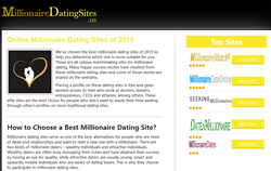 homepage of millionairedatingsites.us