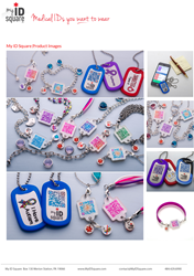 "My ID Squares Smart, colorful and interchangeable ""Squid"" Medical IDs connect to powerful online medical profile"