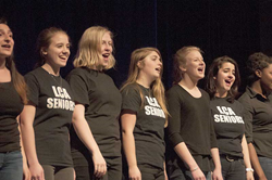 LCA students singing during Artsfest performance