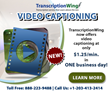 TranscriptionWing Launches New Video Captioning Service