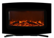 The curved 36-inch wide Touchstone Yardley Electric Fireplace can be used as a standalone fireplace or a wall mounted fireplace.