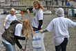 Members of the Way to Happiness club of the Brussels branch of the Churches of Scientology of Europe did their part with a neighborhood cleanup on April 25 during the Belgian capital's 6th annual Cleanliness Day.