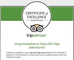 TripAdvisor, Vajra Sol Yoga Retreats