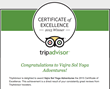 Vajra Sol Yoga Adventures Awarded 2015 TripAdvisor Certificate of...