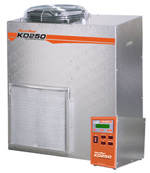 The Wood-Mizer KD250 Dehumidification Kiln Kit features a 4,000 board foot capacity.