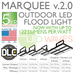 New Marquee2 6-Pack Outdoor LED Flood Light