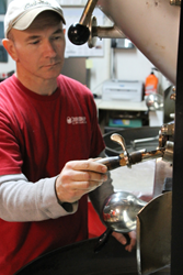 Dave Rochus, roast master for Crimson Cup Coffee & Tea in Columbus, Ohio