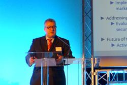 Jenoptik's Michael Mertin, President of Photonics21, at the organization's annual meeting