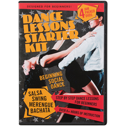 Dance Lessons Starter Kit 4 DVD Set; Salsa, Swing, Bachata and Merengue Dancing
