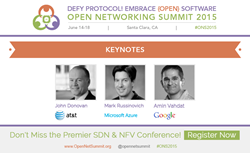 Keynotes by Google, Microsoft and AT&T at Open Networking Summit 2015