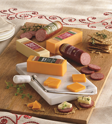 Cheese and sausage from The Swiss Colony is a savory gift for Father's Day