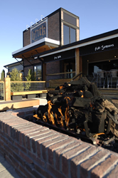 Fire pit at Brick House Tavern + Tap resaturant