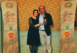 Maurizio de Romedis, accepting his Human Rights Hero Award