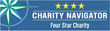 Charity Navigator's 4-star rating is the highest rating an organization can receive