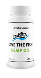 Save the Fish Hemp Oil - a choice with multiple benefits for the environment - 90 X 1,000mg vegan soft gels