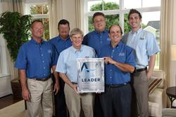 Left to right: Compton Jones, Homeowner Service Manager; Bruce Barnhard, Homebuilder; Dick Kettler, Managing Partner; Dave Griffin, Sr.VP; Tom Kettler, President; Chris Pikus, Community Sales Manager.