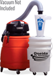 Oneida Air Systems' Dust Deputy® works with any make/model of wet/dry vacuum.