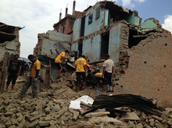 Nepali residents who lost everything in the earthquakes and aftershocks trust the Scientology Volunteer Ministers to help comb through the rubble and find their possessions.