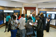 Drug education advocates gather in the Public Information Center of the Church of Scientology Pretoria to plan activities.