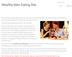 wealthy men dating site