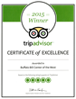 The Buffalo Bill Center of the West has won the Trip Advisor Certificate of Excellence for the third year in a row.