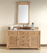 Savannah 60 Single Bathroom Vanity In Natural Oak 238-104-5321 From James Martin Furniture