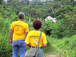 Scientology Volunteer Ministers Goodwill Tour members get their first glimpse of a village along the Amazon in Brazil.