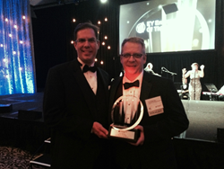 Chris Pershing, left, EagleView co-founder and Chris Barrow,right, EagleView President and CEO