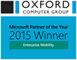 Oxford Computer Group Wins Microsoft's Partner of the Year 2015 Award for Enterprise Mobility