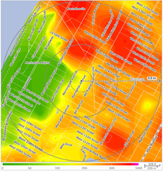 Crime Risk Map in the Vicinity of 125th St, New York, NY