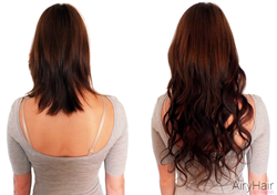 Clip In Hair Extensions: Before & After