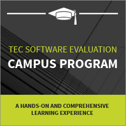 TEC Software Evaluation Campus Program gives postsecondary students free access to TEC's software selection tools.