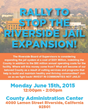 Stop the Riverside Jail Expansion Flyer