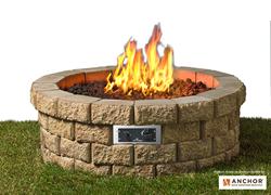 Hudson Stone (TM) Gas Fire Pit Kit