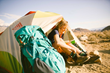Rent camping/backpacking gear online (lifestyle image for use)