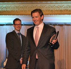 Andy Richardson, vice president of Ginny Richardson Public Relations, received the Silver Trumpet Award from the Publicity Club of Chicago