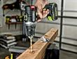 Rockwell 20V Brushless Drill-Driver drilling post.