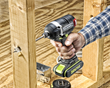 Rockwell 20V Brushless Impact Driver with paddle bit.