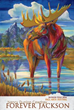 """The Jackson Hole Fall Arts Festival is a longtime WordenGroup's travel PR client.  (Image: """"Forever Jackson"""" by featured artist Nancy Dunlop Cawdrey from 2014.  Poster: © Jackson Hole Chamber of Comme"""