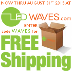 Free Shipping on all lighting orders at LEDWaves.com