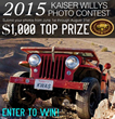 Kaiser Willys Auto Supply Presents the 2015 Willys Jeep Photo Contest with a Top Prize of $1,000