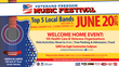 5th Annual Veterans Freedom Music Festival, Welcome Home Pays Tribute to Military, Veterans