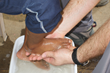 Washing Feet to Place Shoes On