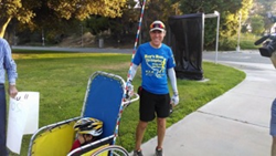 Roy Wiegand completed 86 miles in 17 hours during the  2014 Roy's Run for Christopher while wearing Spenco insoles.