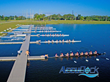 AccuDock 10 lane start dock in use during a recent regatta at Nathan Benderson State Park